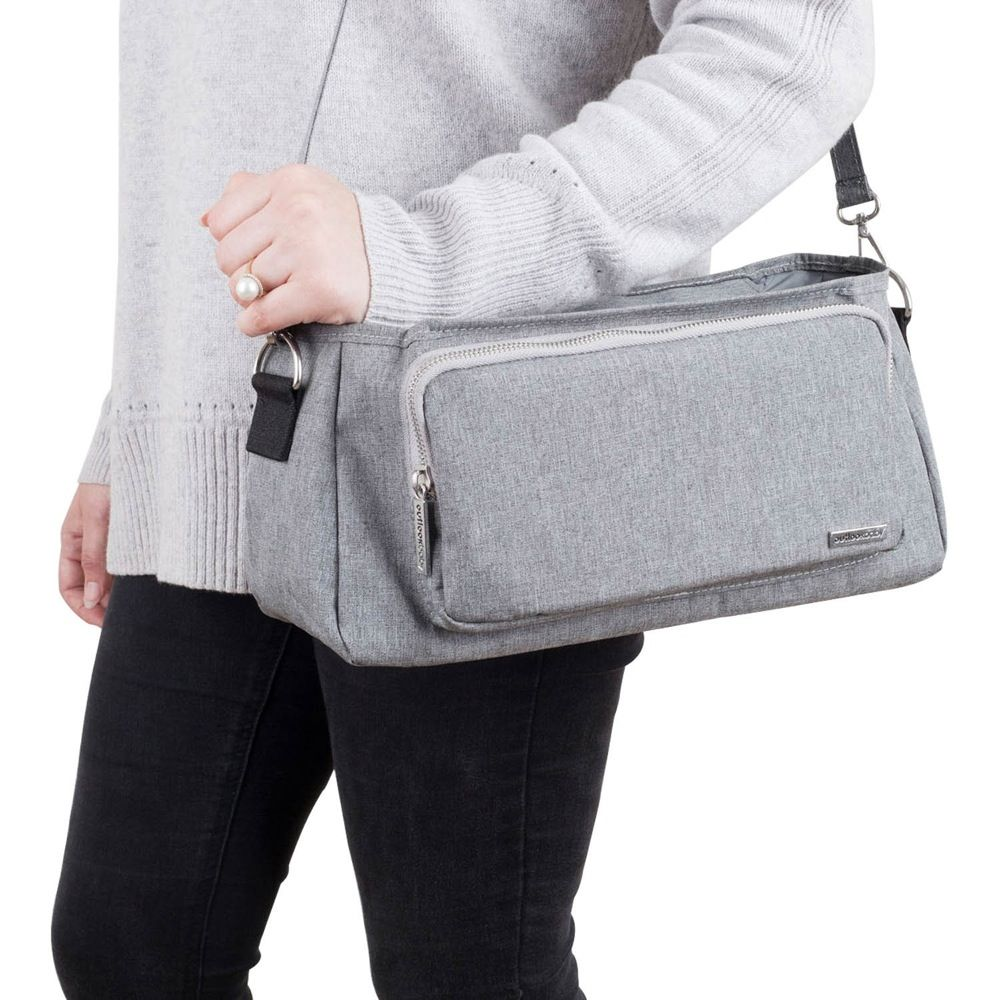 Outlook Baby Pram Caddy With Shoulder Strap Grey Melange image 6