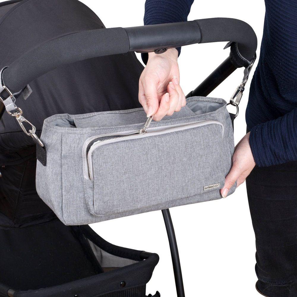 Outlook Baby Pram Caddy With Shoulder Strap Grey Melange image 7