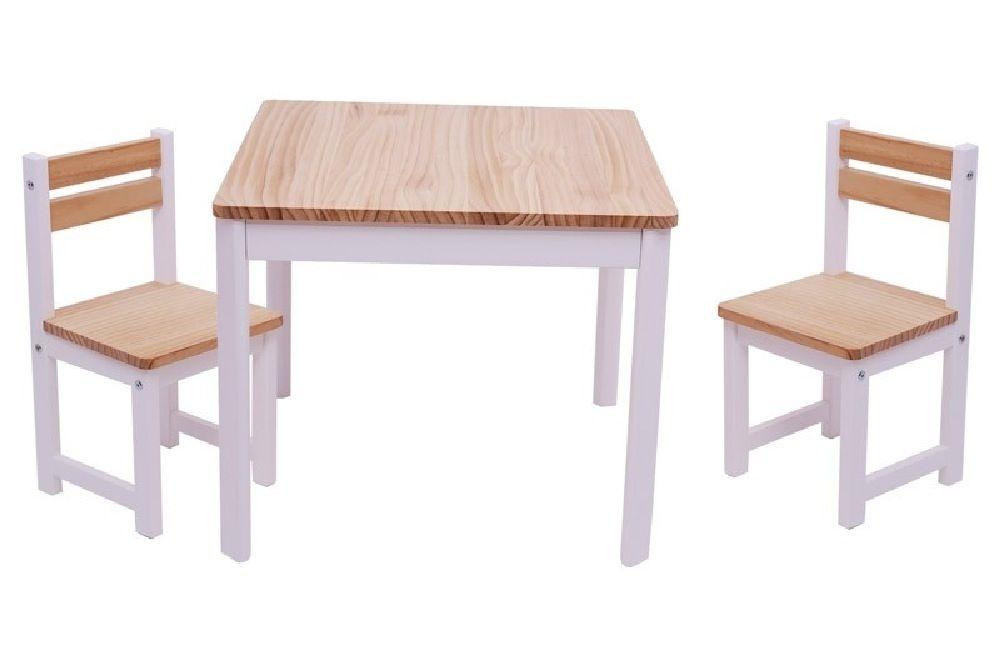 Tikk Tokk Little Boss Envy Timber Table & Chair Set White/Natural image 0