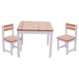 Tikk Tokk Little Boss Envy Timber Table & Chair Set White/Natural