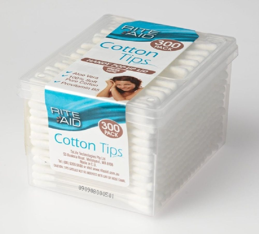 Rite Aid Cotton Tips 300 Pack
