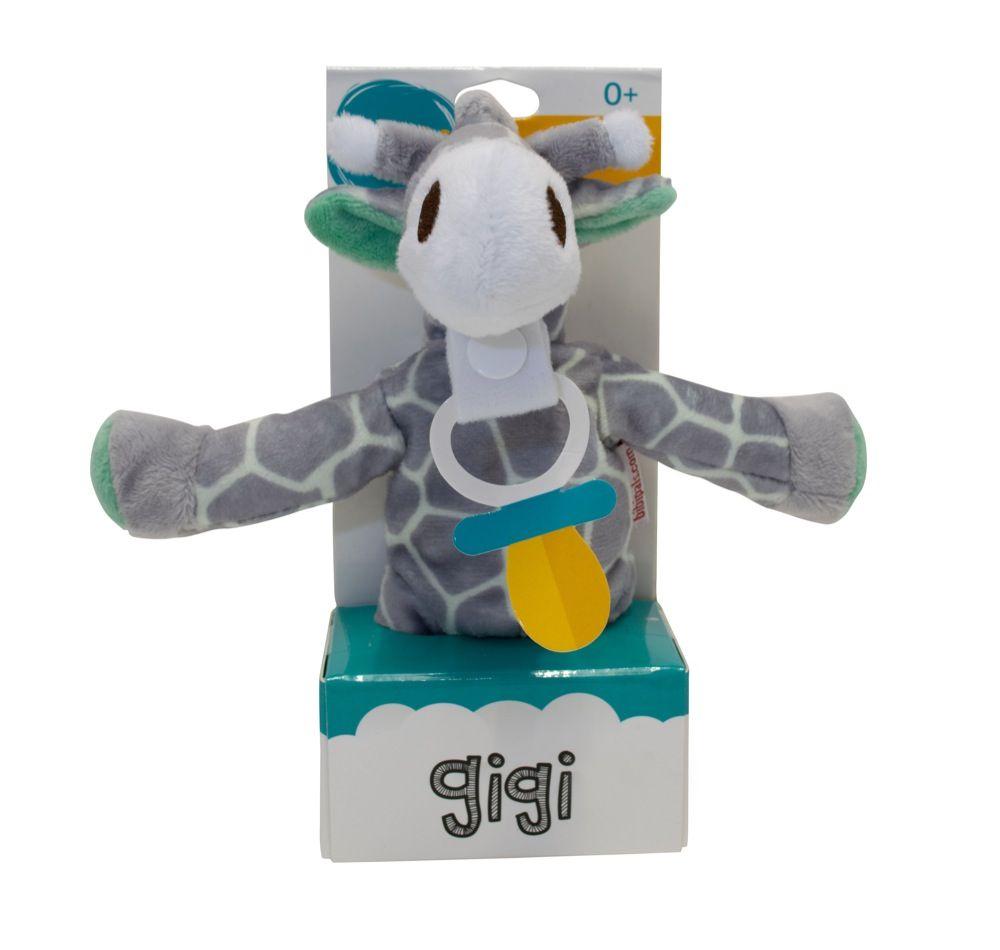 Bibipals Plush Gigi Giraffe Grey & Mint Green