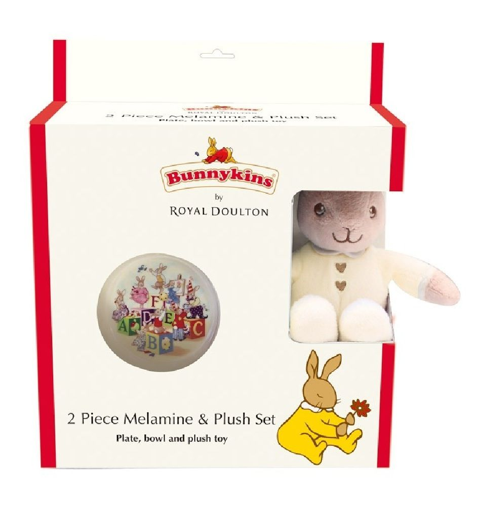 Bunnykins Melamine & Plush Gift Set Cream image 0