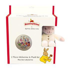 Bunnykins Melamine & Plush Gift Set Cream