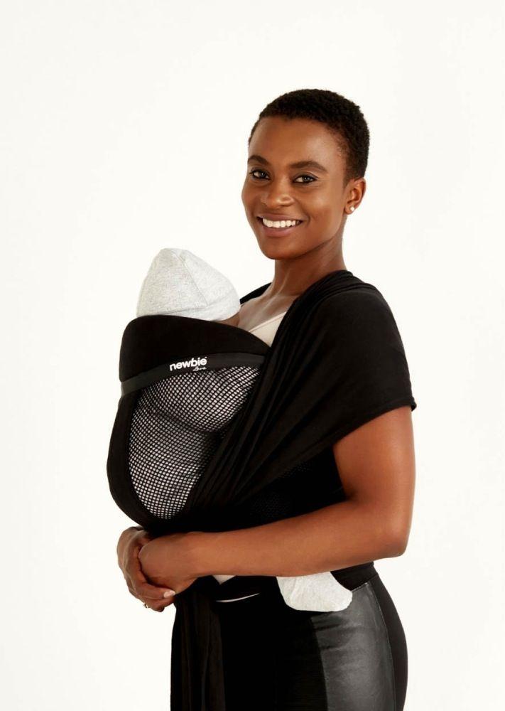 Hug A Bub Newbie Love Premium Mesh Black image 0