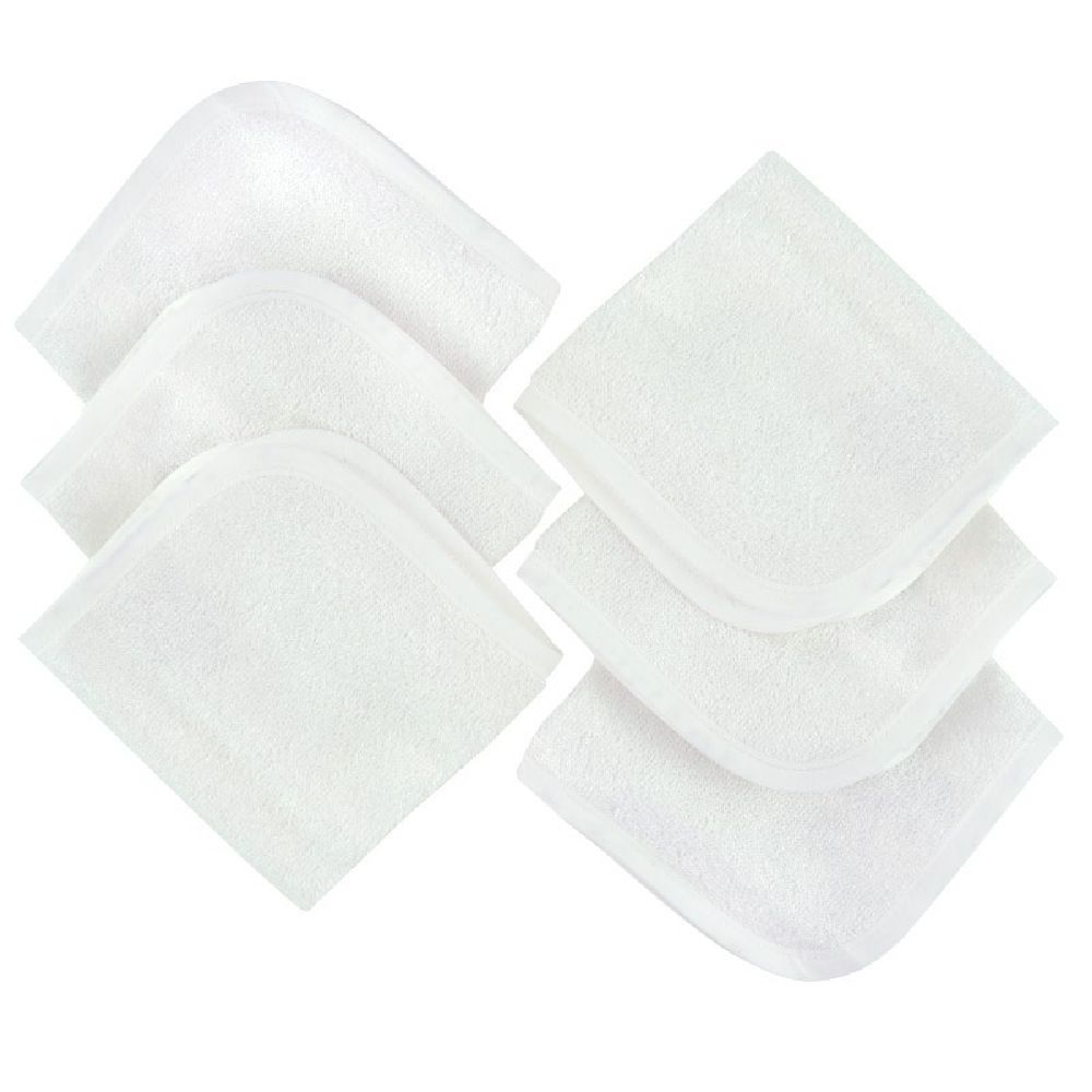 4Baby Wash Cloth Bamboo Cotton 6 Pack image 0