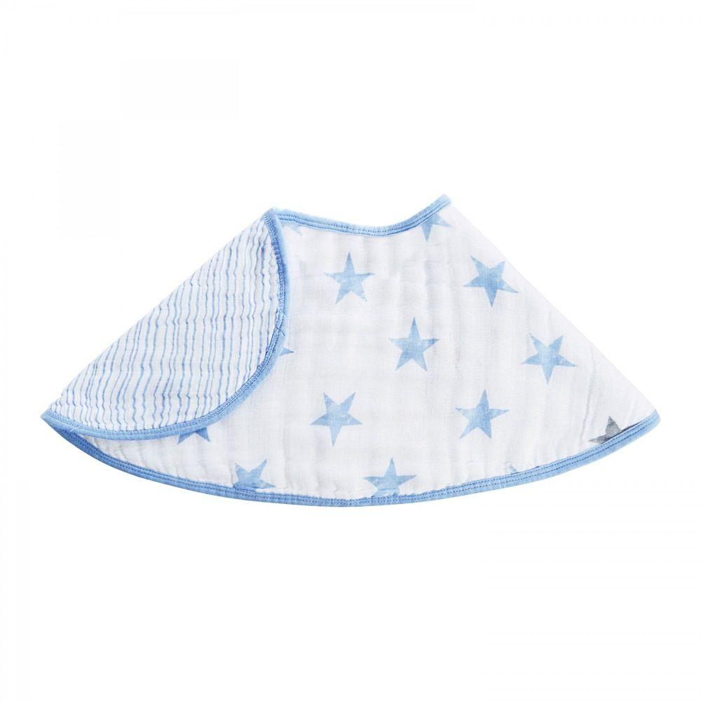 Aden Reversible Burpy Bib Stars Blue Dapper image 2