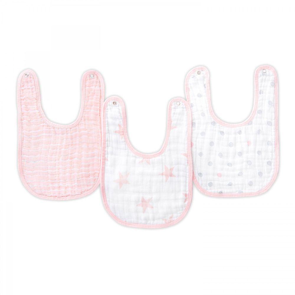 Aden Snap Bibs Stars Pink Doll 3 Pack image 2
