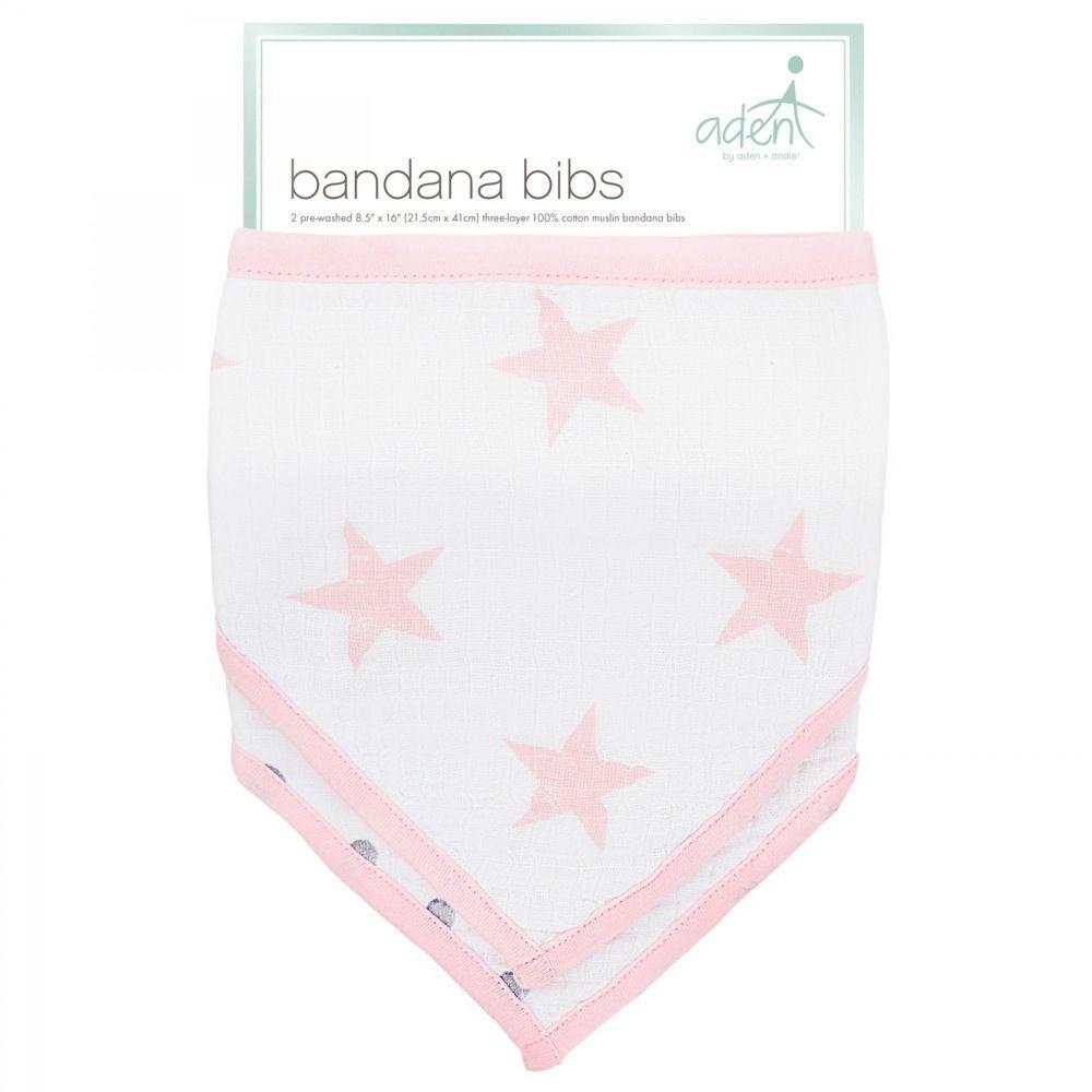 Aden Bandana Bibs Stars Pink Doll 2 Pack image 1