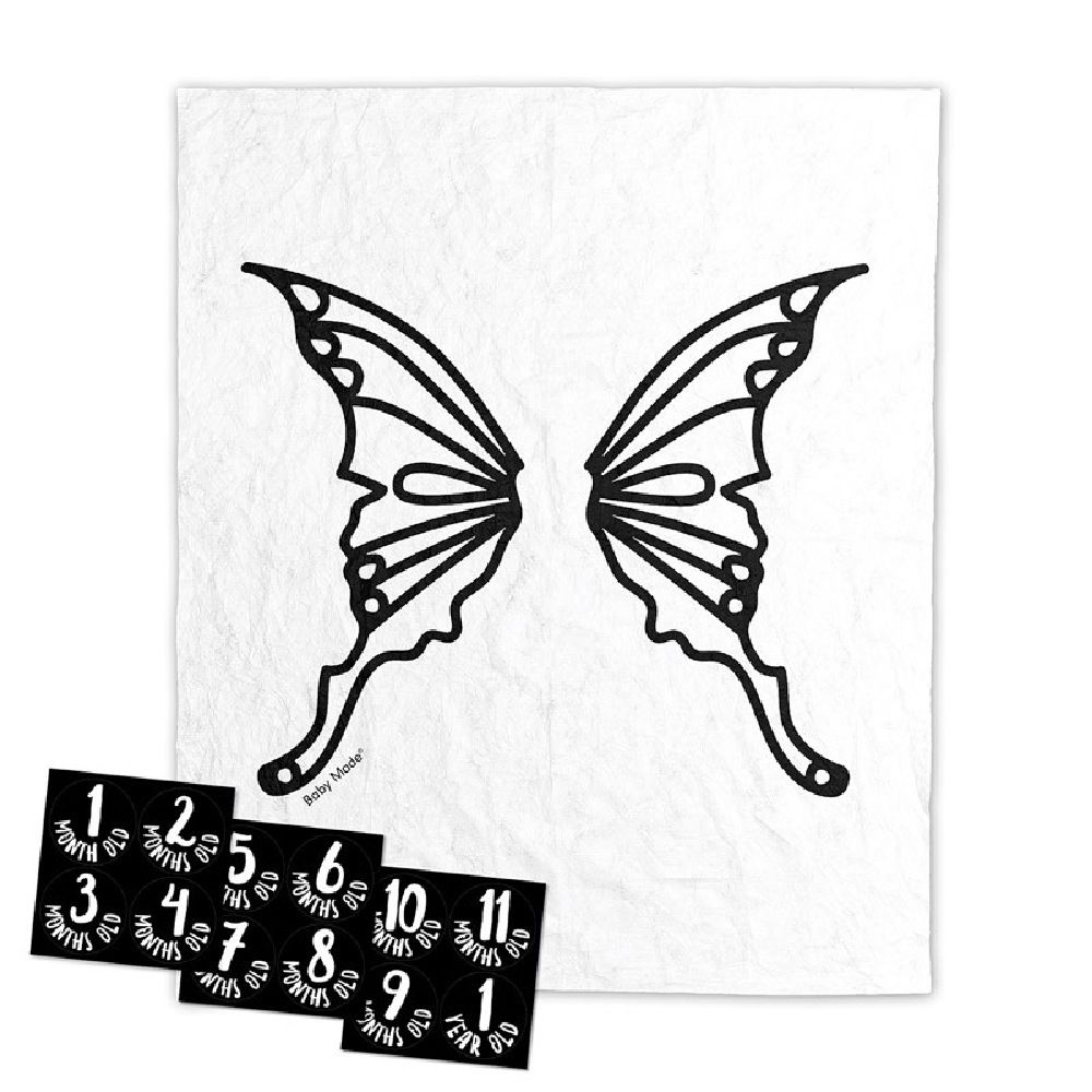 Baby Made Baby Milestone Backdrop Butterfly Scene