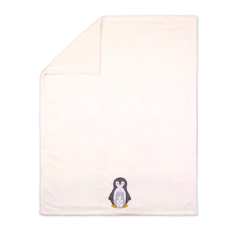 4Baby Fleece Blanket Penguin Applique image 0
