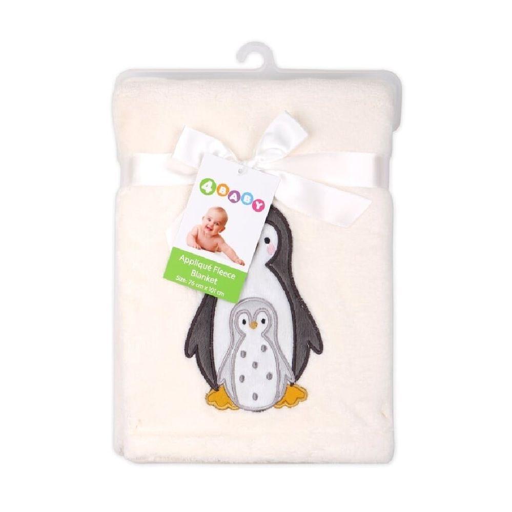 4Baby Fleece Blanket Penguin Applique image 1