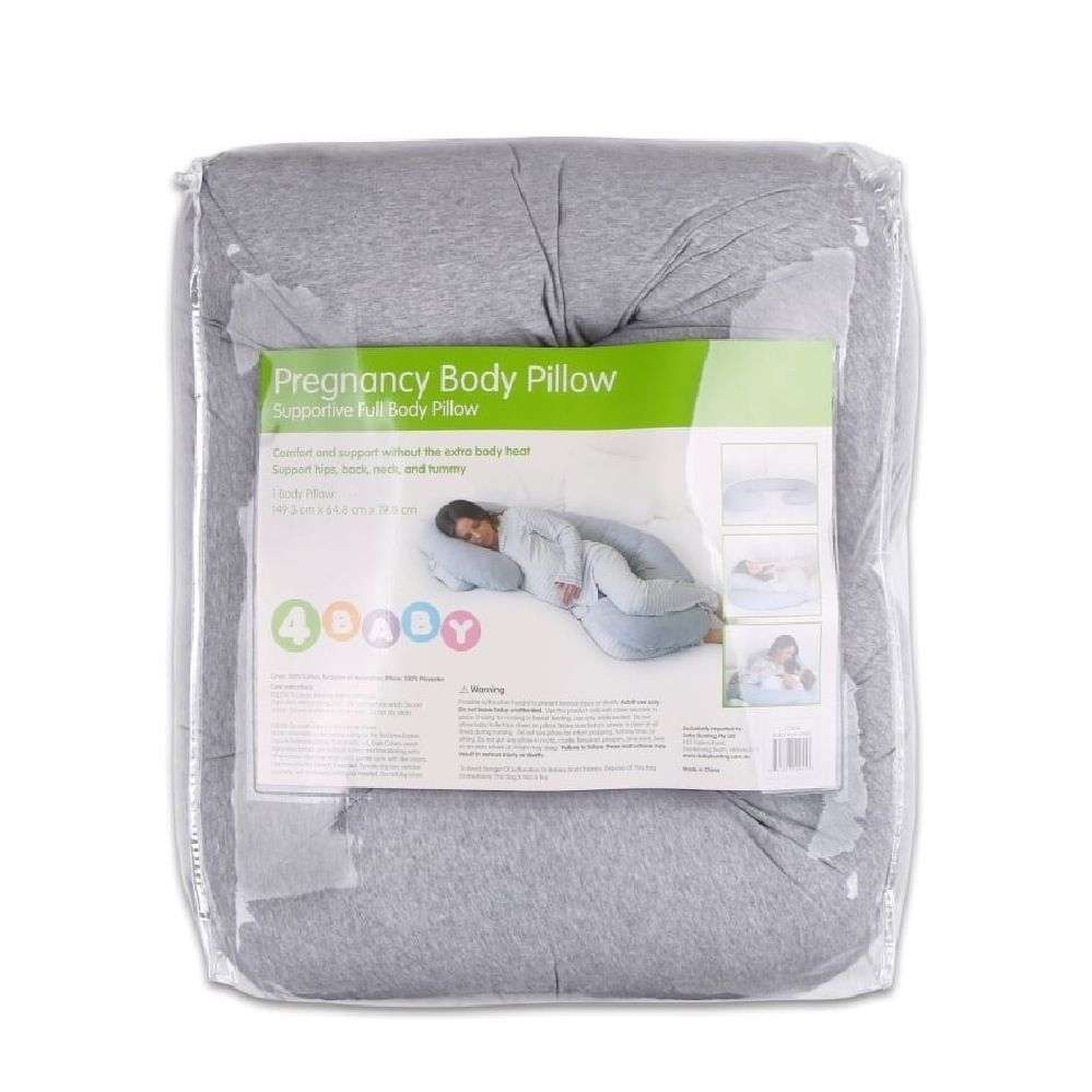 4Baby Jersey Body Pillow Grey Marle