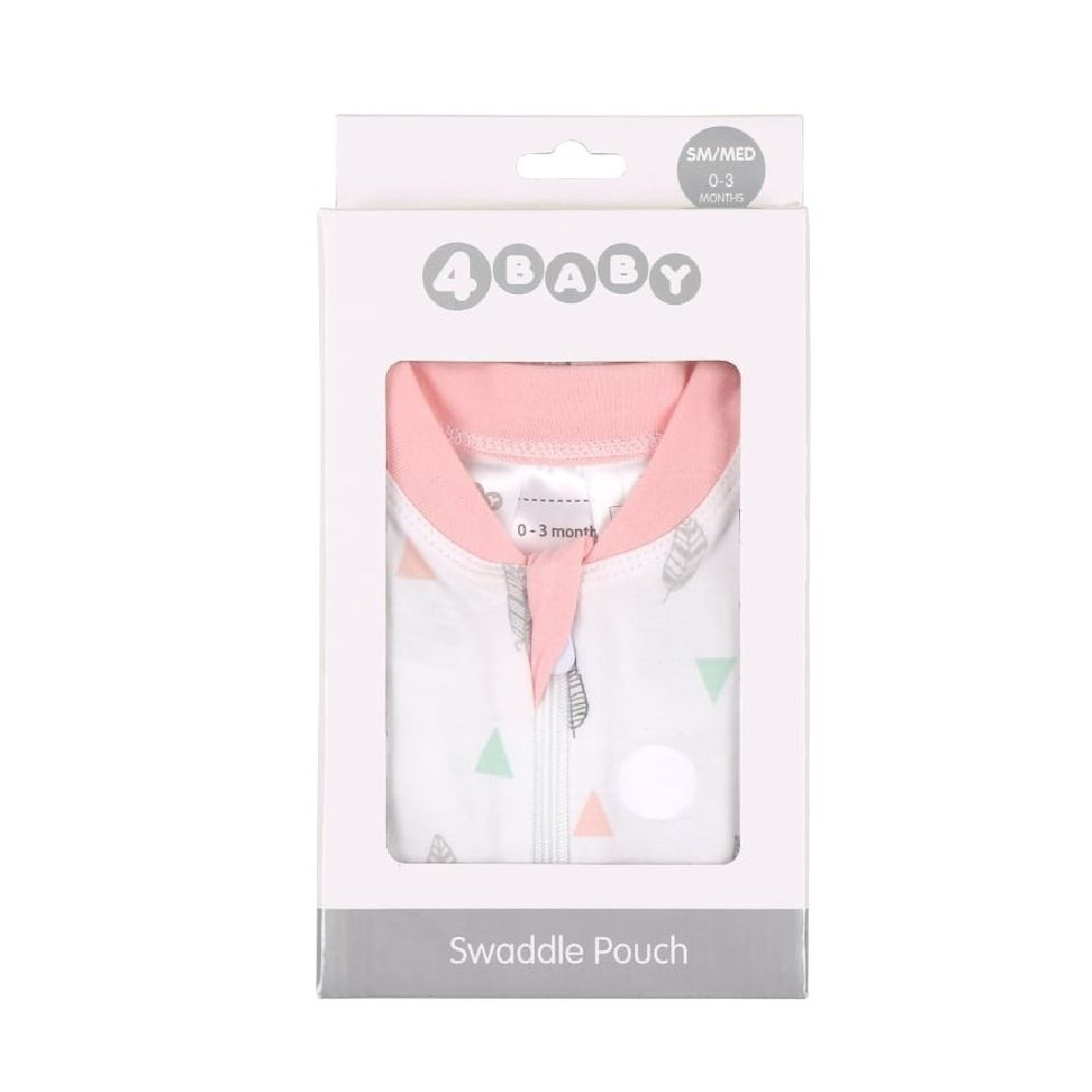4Baby Swaddle Pouch Geo Feather 3-6 Months image 1