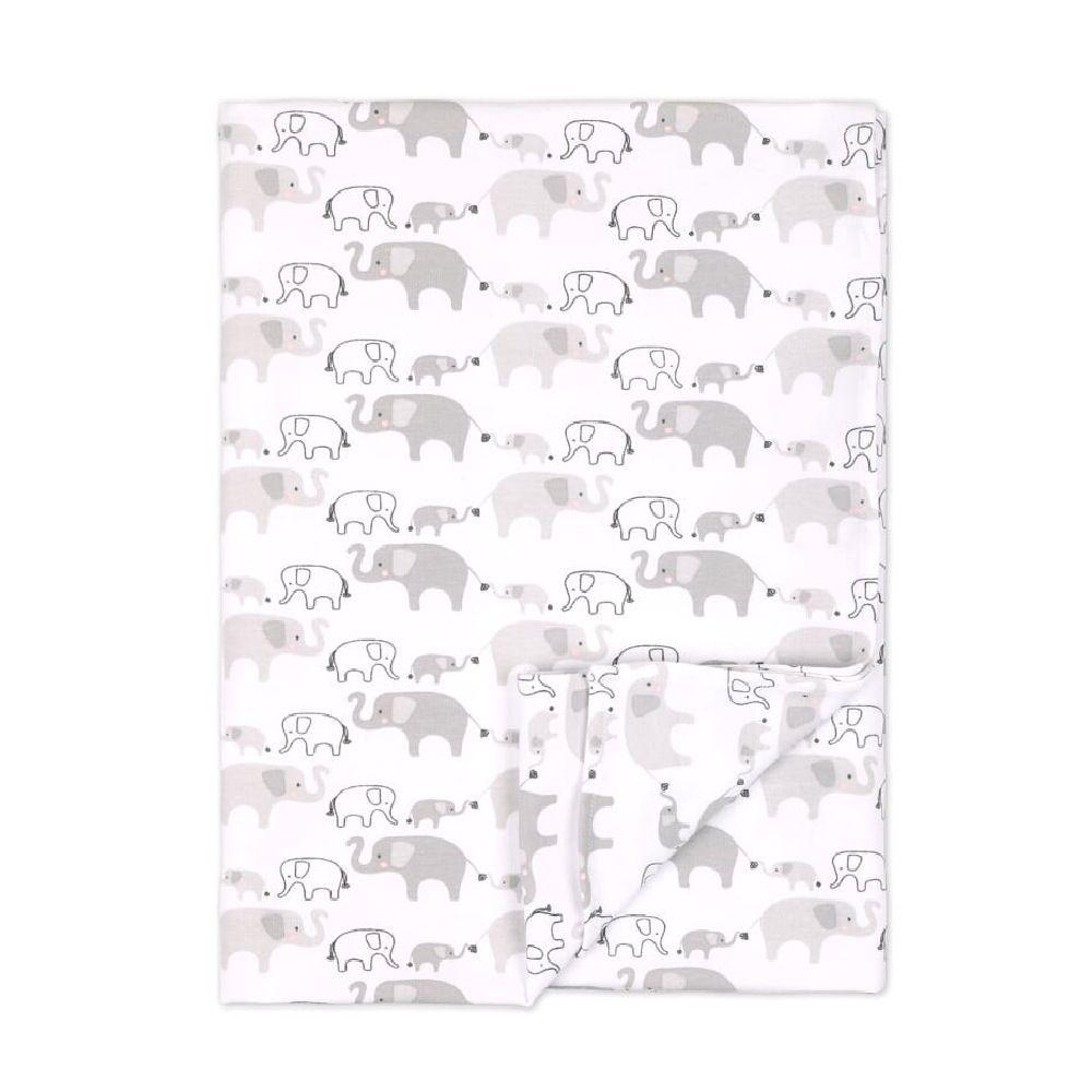 4Baby Newborn Set Beanie with Wrap & Bassinet Sheet Elephant image 2