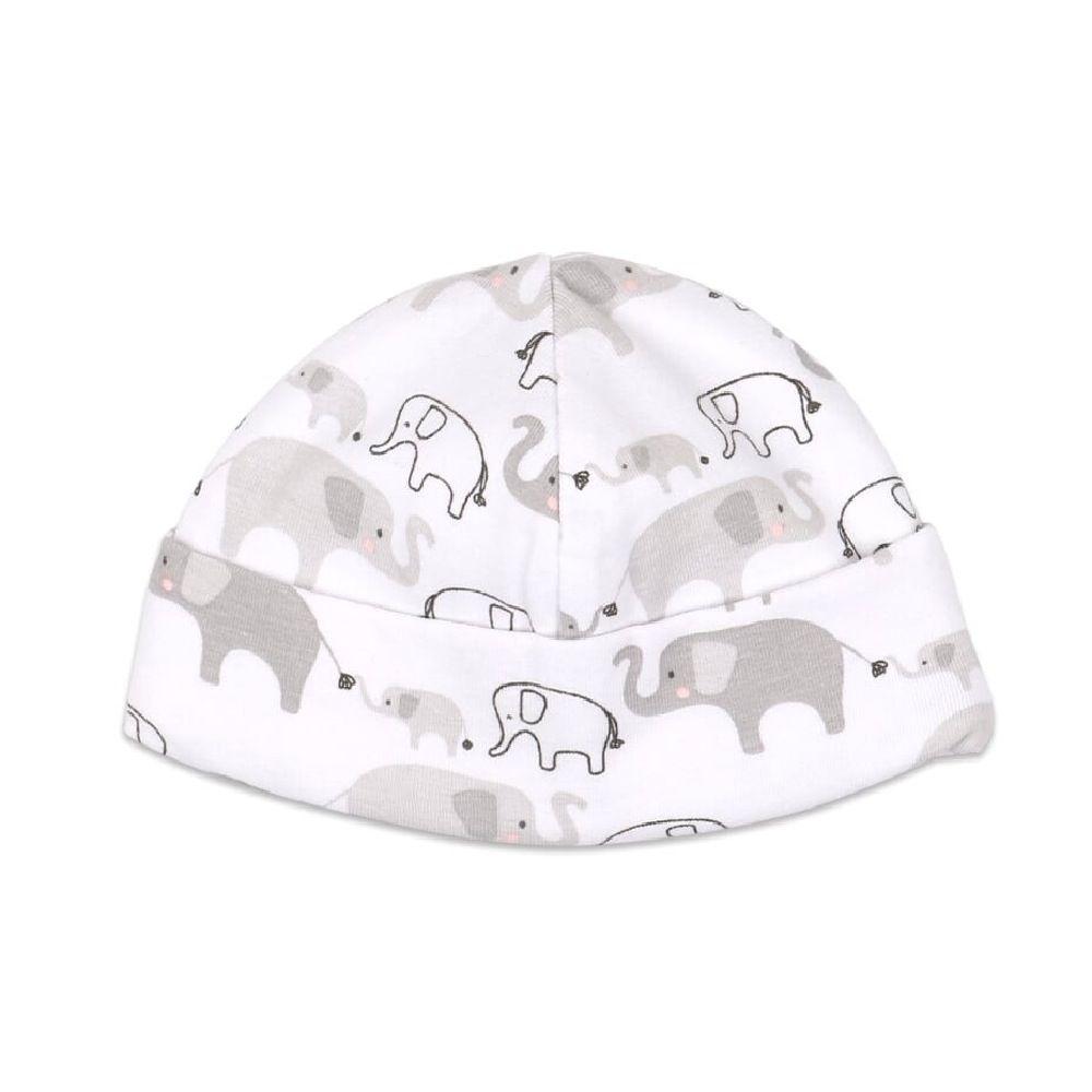 4Baby Newborn Set Beanie with Wrap & Bassinet Sheet Elephant image 3
