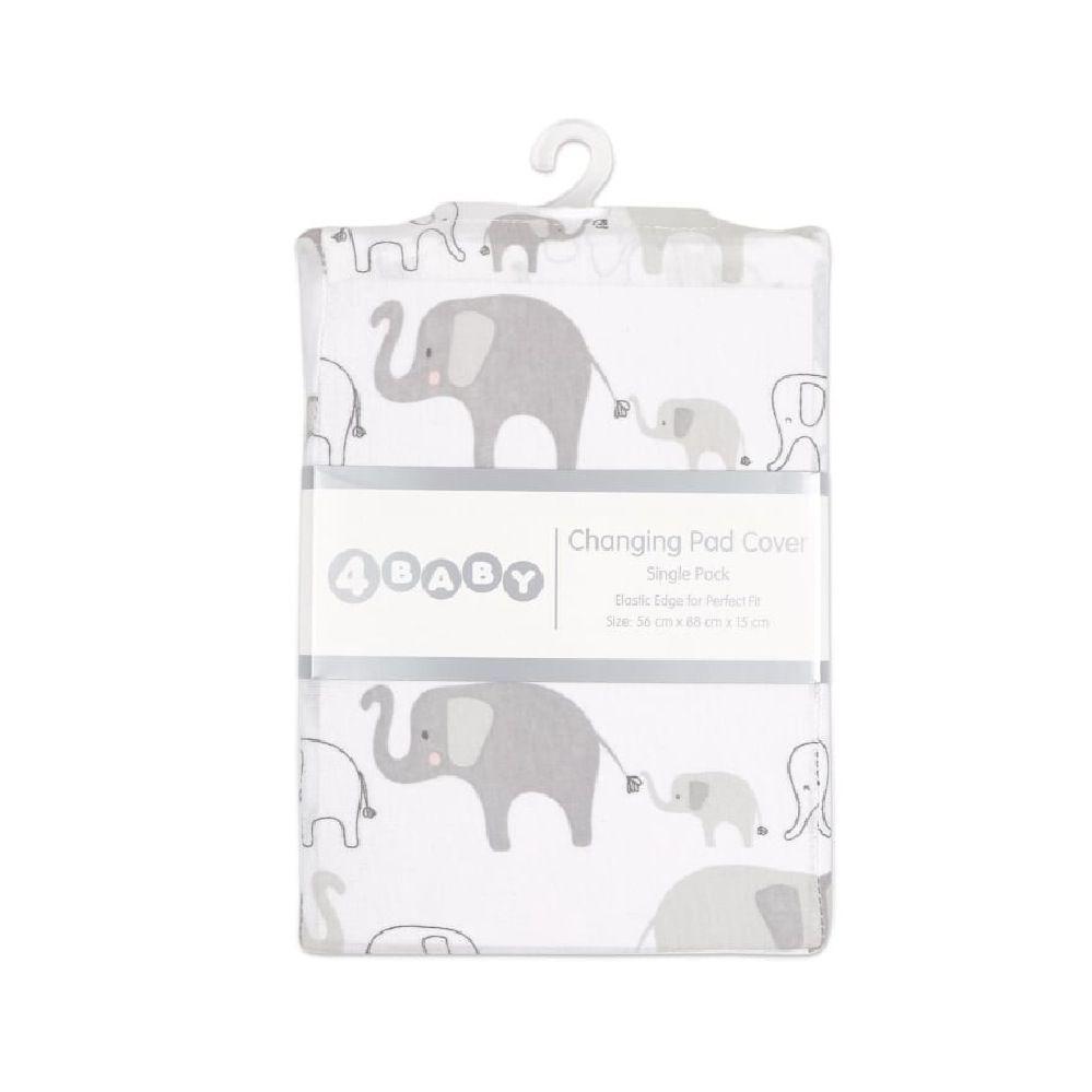 4Baby Jersey Change Pad Cover Grey Safari image 1