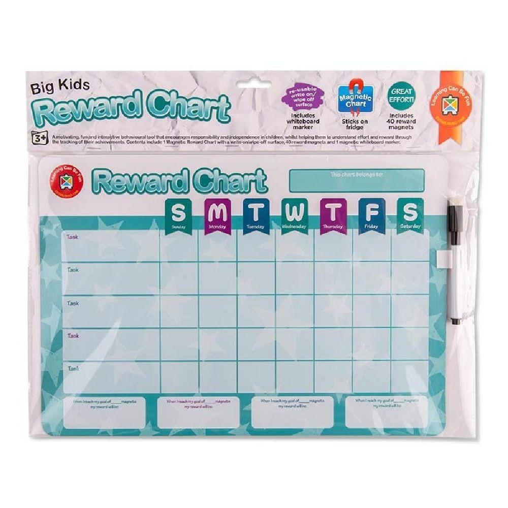 Learning Can be Fun Magnetic Reward Chart Big Kids image 1