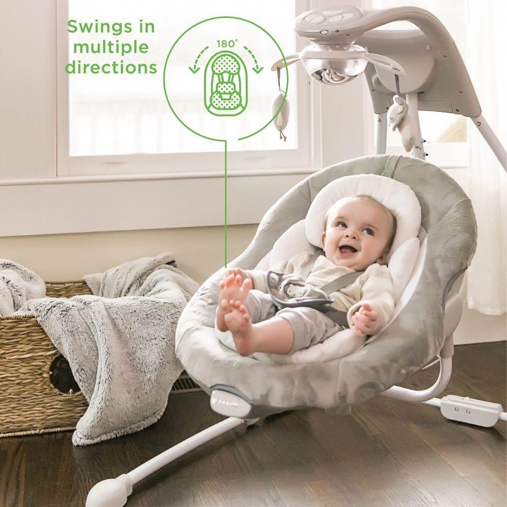 Ingenuity DreamComfort InLighten Cradling Swing - Braden image 3
