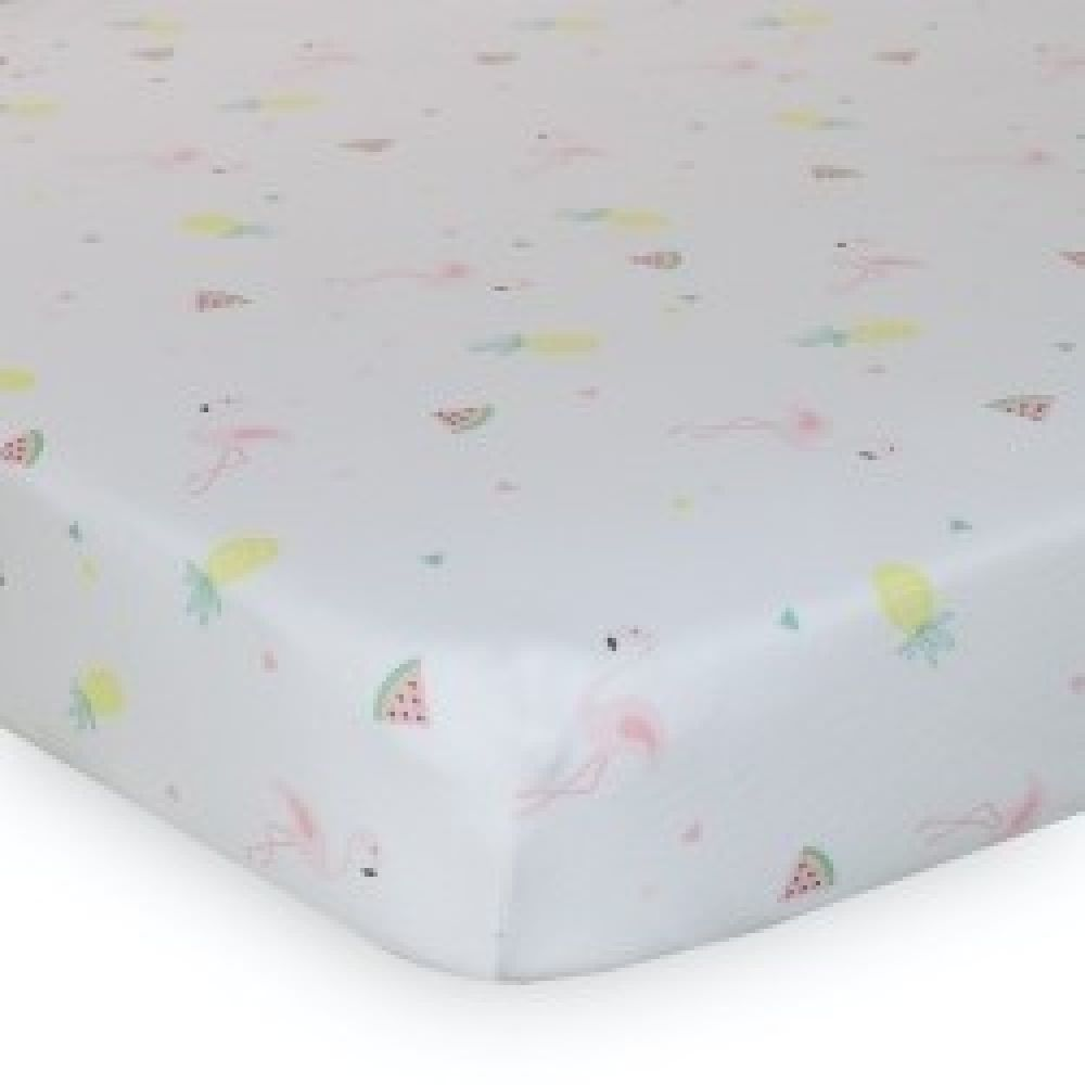 Lolli Living Flamingo Jersey Cot Fitted Sheet