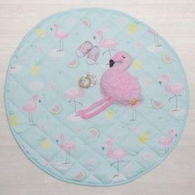 Lolli Living Flamingo Round Play Mat