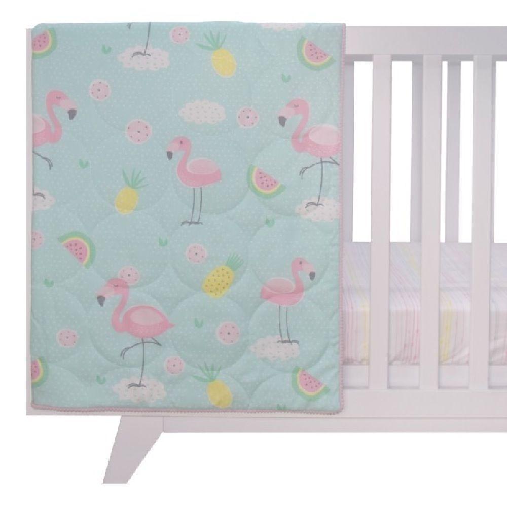 Lolli Living Flamingo All Seasons Cot Quilt