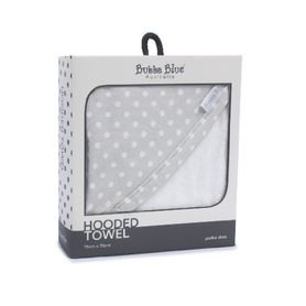 Bubba Blue Polka Dots Hooded Towel Grey