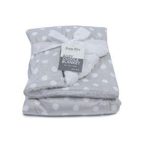 Bubba Blue Polka Dots Cuddle Blanket Grey