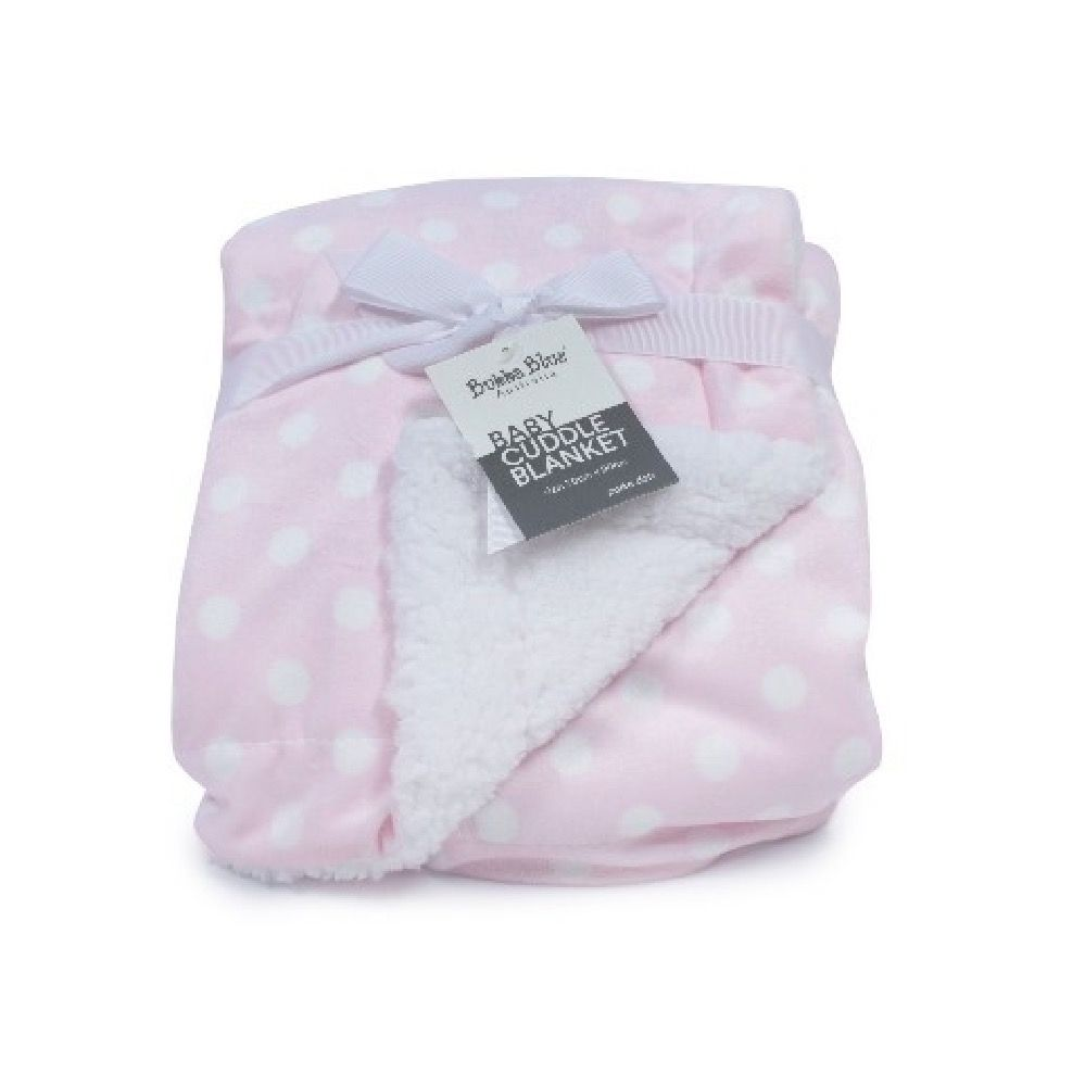Bubba Blue Polka Dots Cuddle Blanket Pink image 0