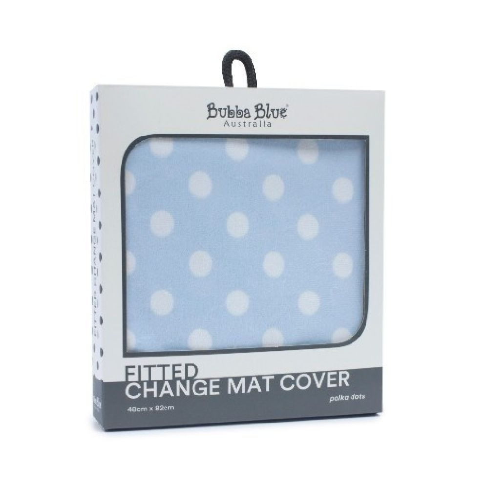 Bubba Blue Polka Dots Change Pad Cover Blue