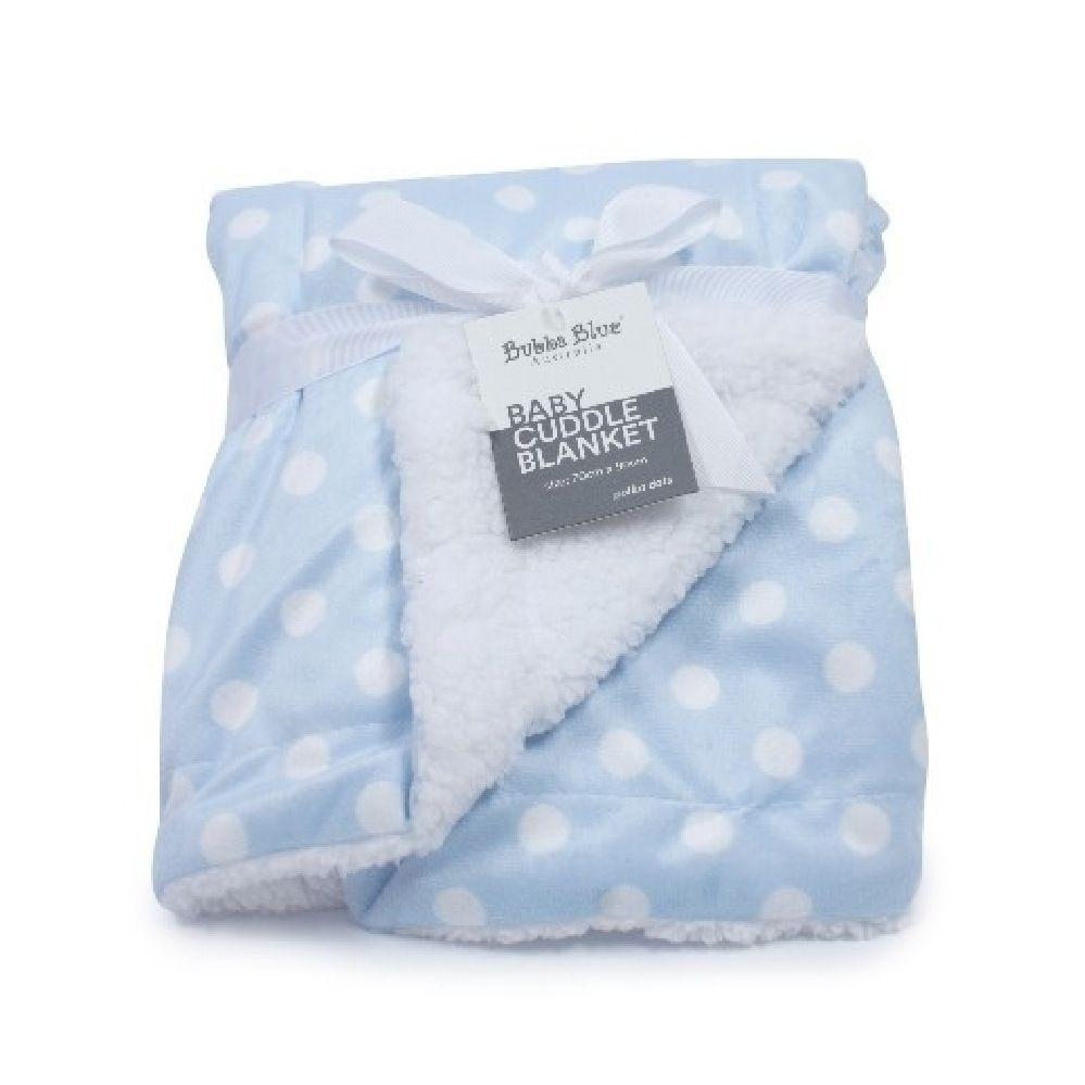 Bubba Blue Polka Dots Cuddle Blanket Blue image 0