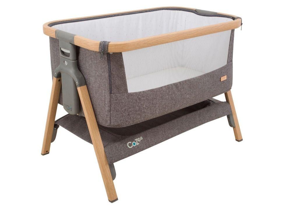 Tutti Bambini Cozee Co-Sleeper Bassinet Oak / Charcoal image 1