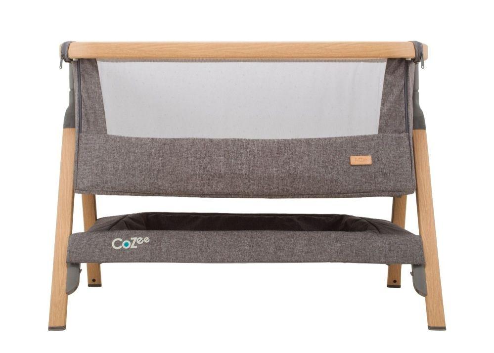 Tutti Bambini Cozee Co-Sleeper Bassinet Oak / Charcoal image 2