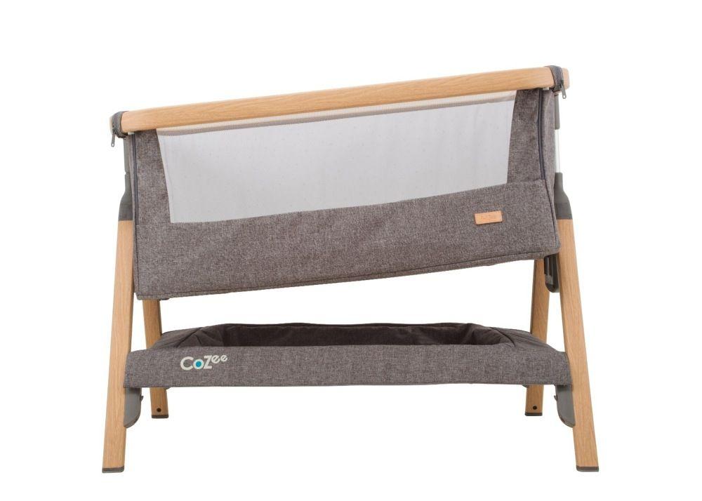 Tutti Bambini Cozee Co-Sleeper Bassinet Oak / Charcoal image 4
