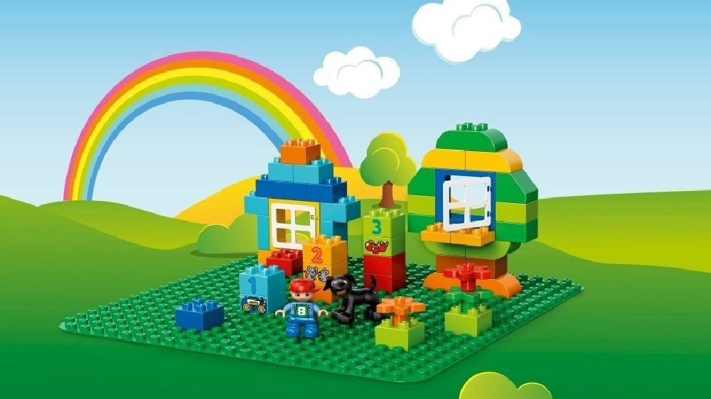 LEGO® DUPLO® Large Green Building Plate image 4