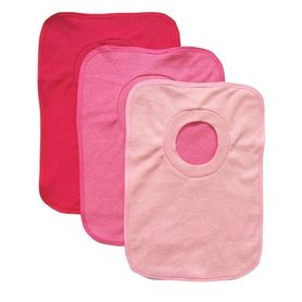 4Baby Large Terry Popover Bib Girl 3 Pack