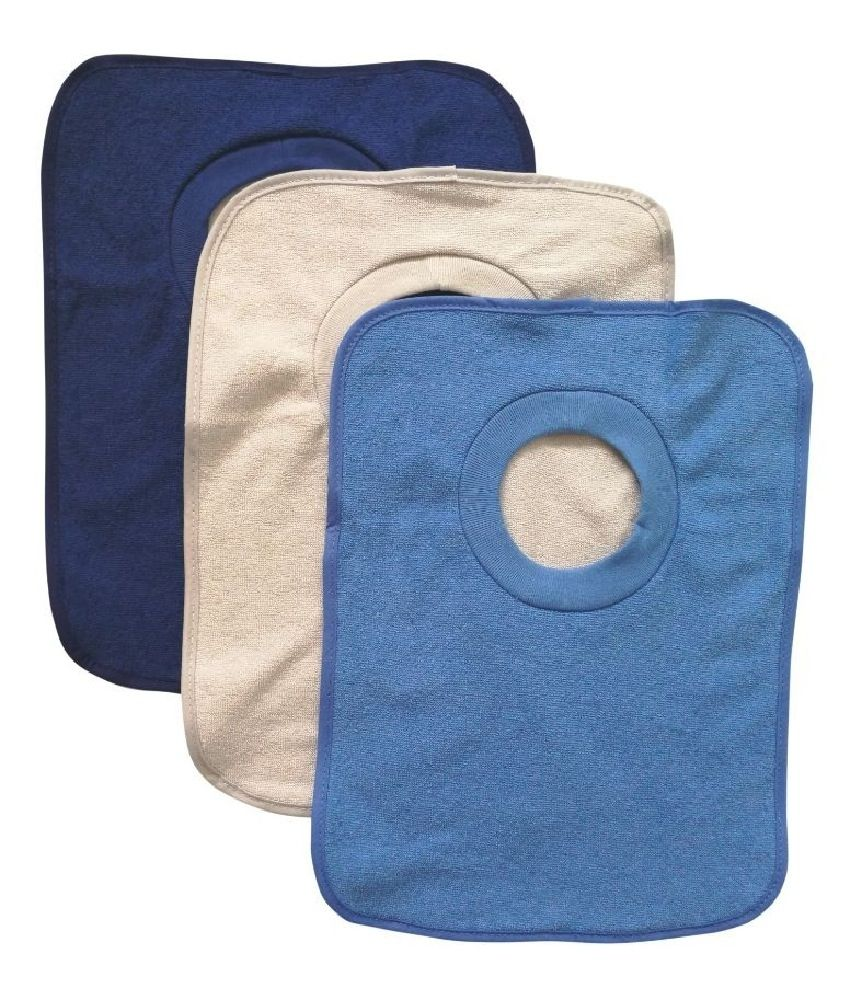 4Baby Large Terry Popover Bib Boy 3 Pack image 0