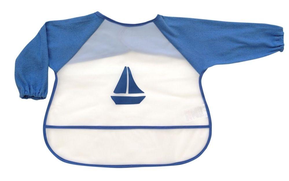 4Baby Long Sleeve Bib Sailboat image 0