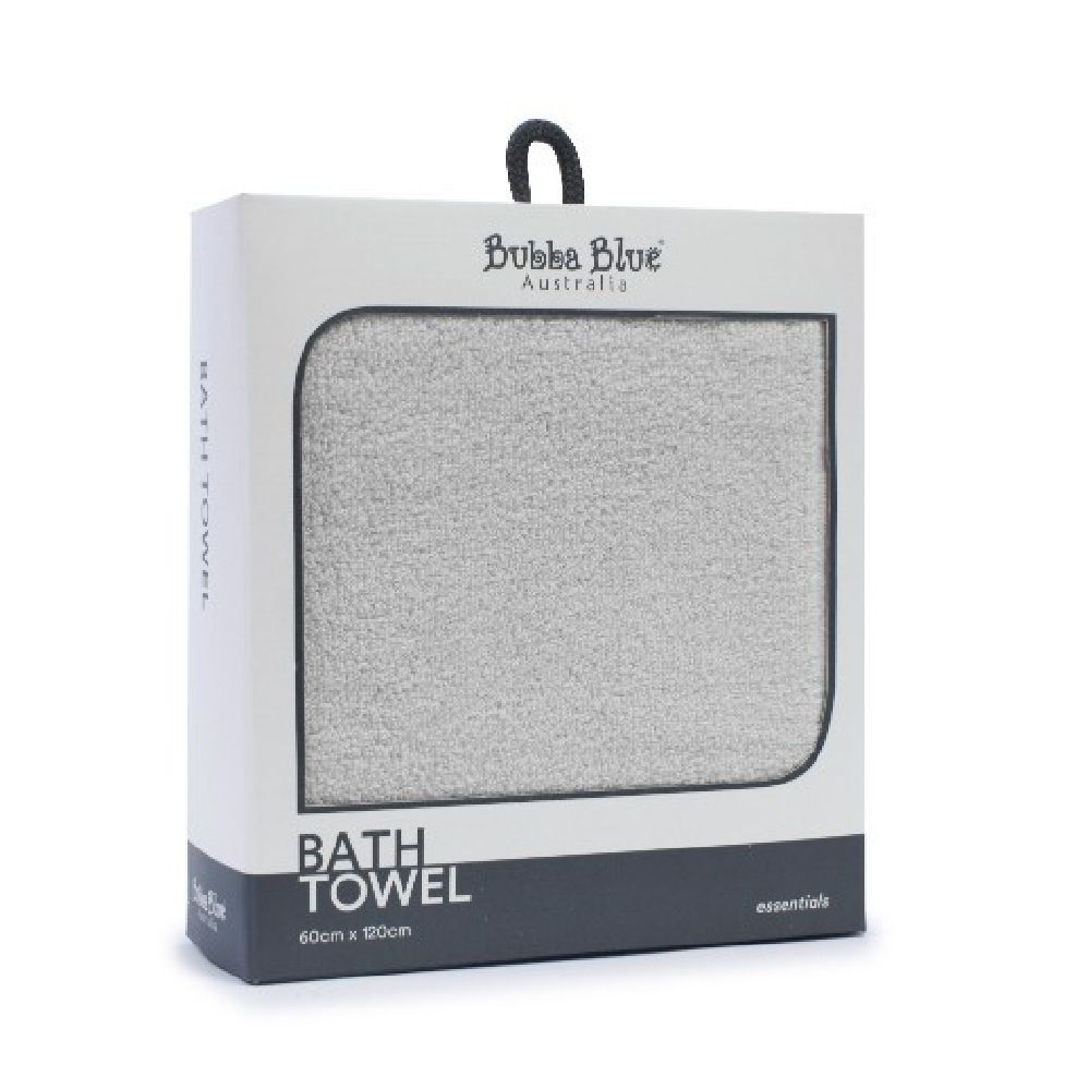 Bubba Blue Essentials Bath Towel Grey image 0