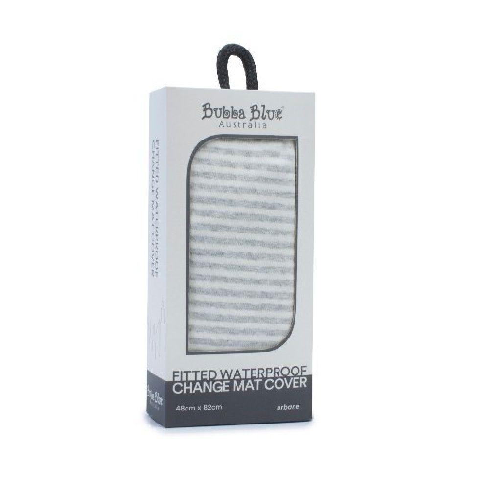 Bubba Blue Urbane Waterproof Change Mat Cover Grey Stripe