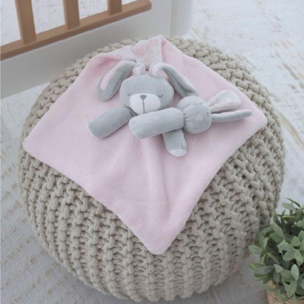 Bubba Blue Bunny Hop Security Blanket & Rattle Set image 2