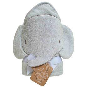 Playgro Home Hooded Towel Elephant Grey