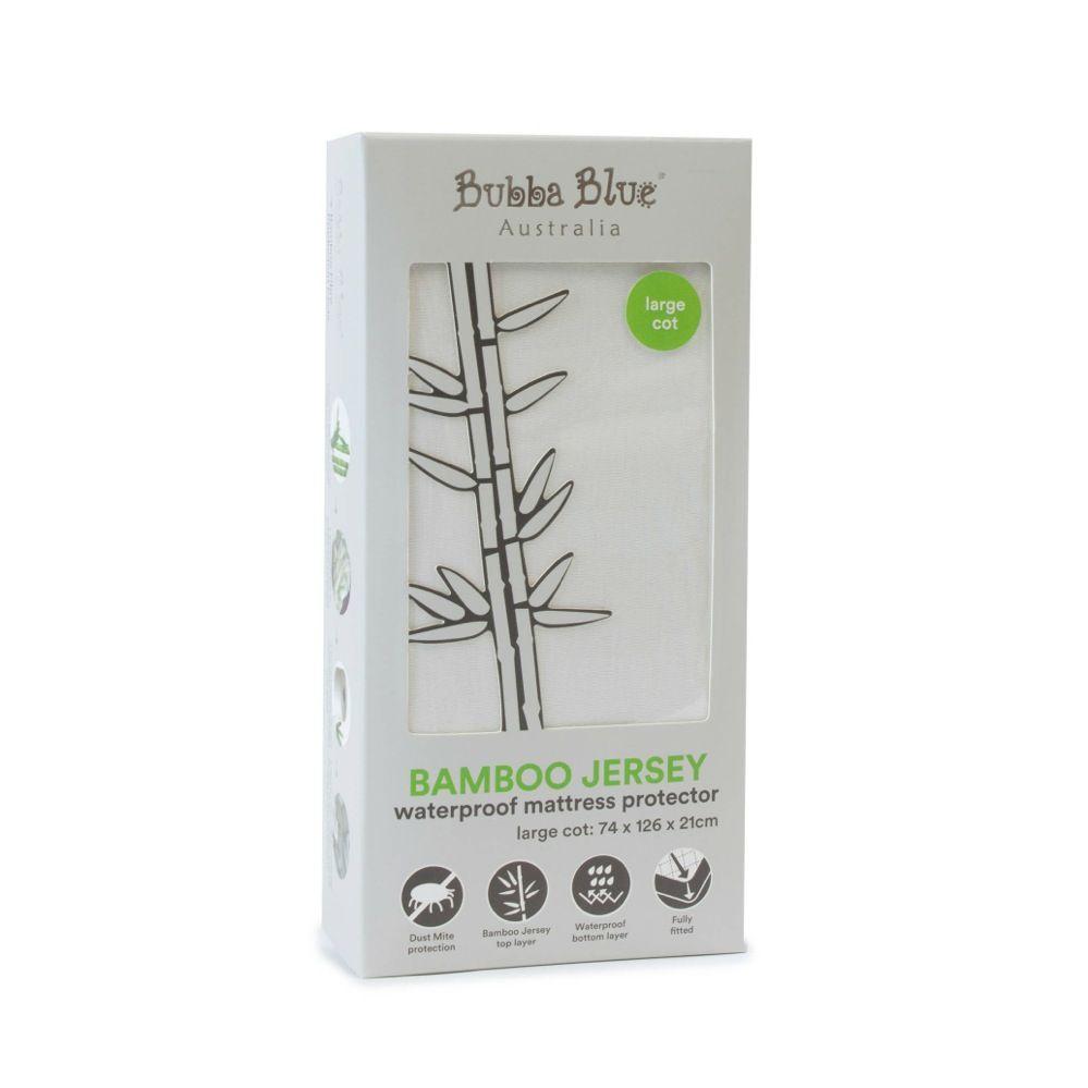 Bubba Blue Bamboo Jersey Mattress Protector Cot Large