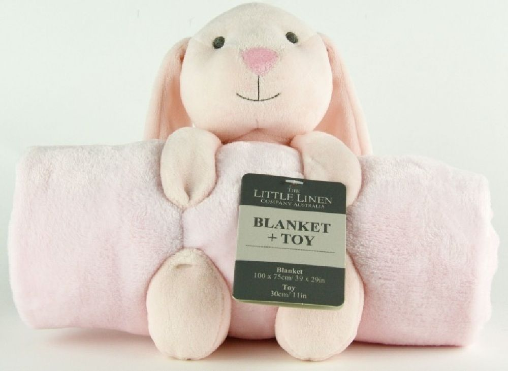 The Little Linen Company Plush Blanket & Toy Bunny image 0