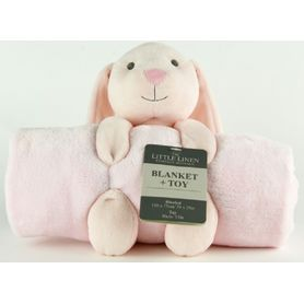 The Little Linen Company Plush Blanket & Toy Bunny