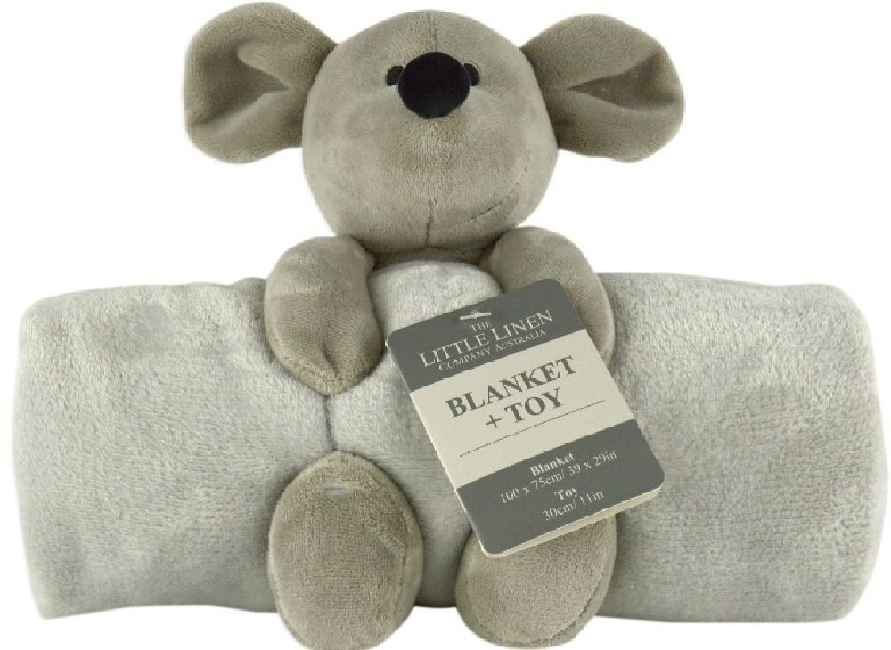 The Little Linen Company Blanket & Plush Toy Mouse image 0