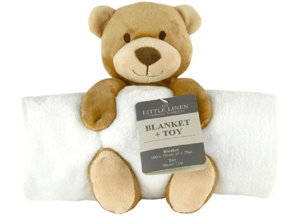 The Little Linen Company Blanket & Plush Toy Bear image 0