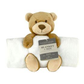 The Little Linen Company Blanket & Plush Toy Bear