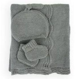 Little Bamboo Knit Gift Set Grey Marle