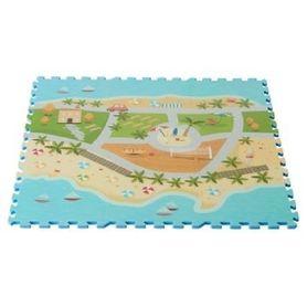 Foam Mats Printed Beach Road Map 9 Piece Set